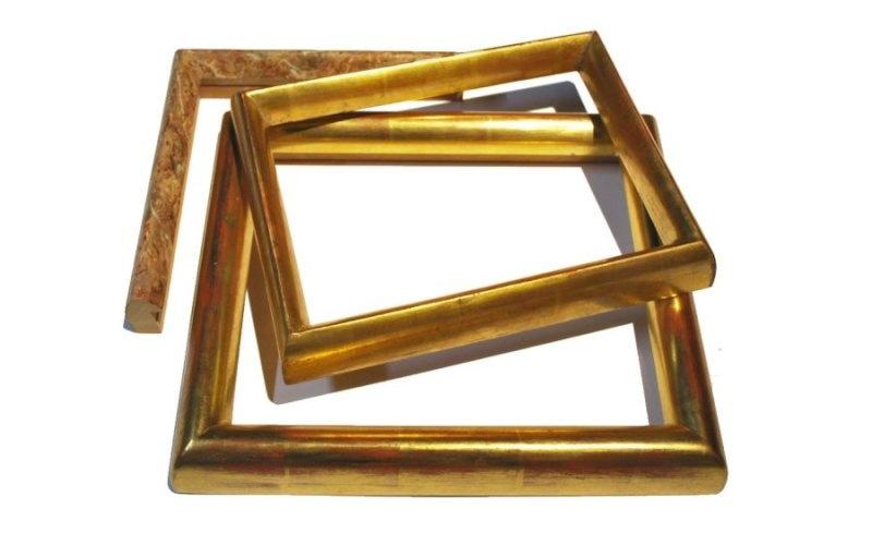 Rahmen Gold und Silber