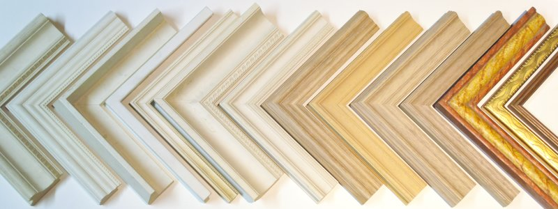various examples of mouldings for picture frames