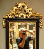 Barockspiegel-Restaurierung-Vergoldung-Geschnitzt