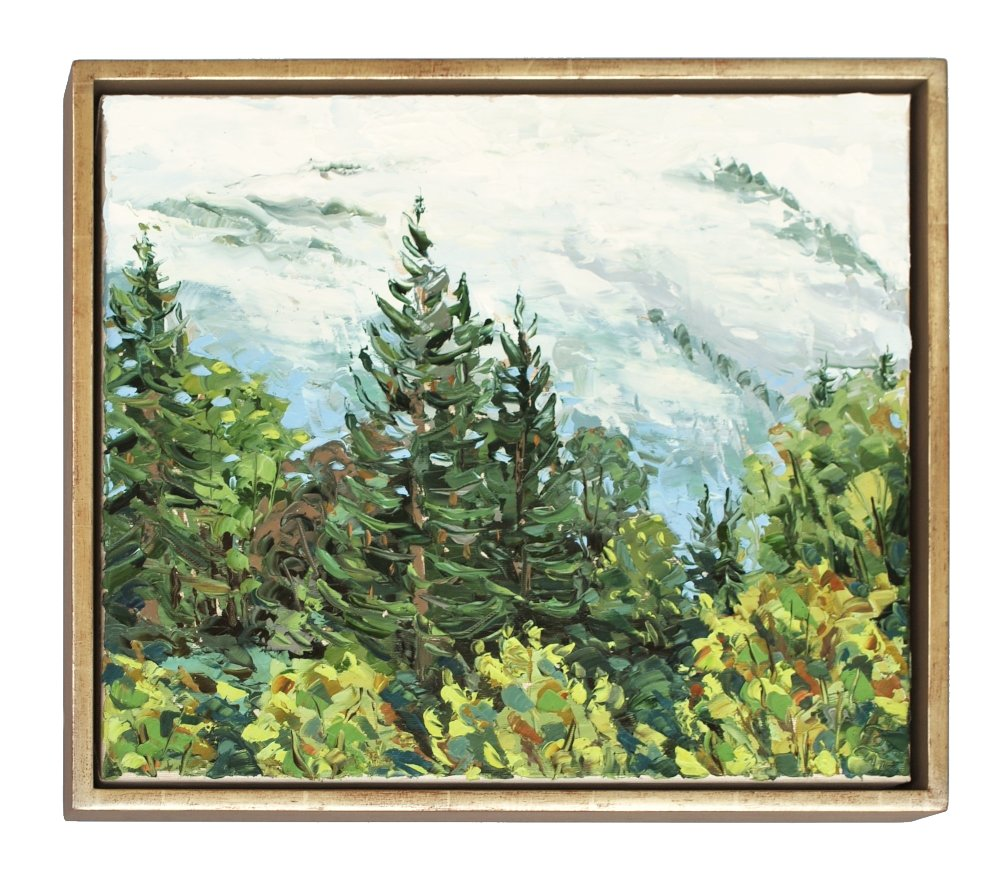 Stephan Ois - Landschaftebild Ötscher, Landschaftsgemälde, Öl auf Leinwand, Alpenhotel Gösing