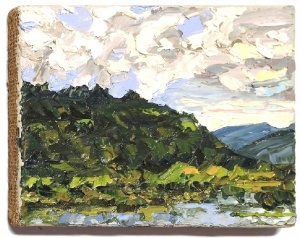 Stephan Ois - Ölmalerei, moderne Kunst, gemalte Bilder, Bilderrahmen, Passepartout