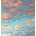 Stephan Ois - Gemälde Sky Landschaft Öl