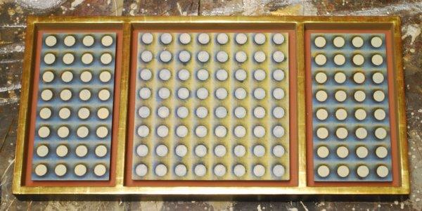 mehrteiliger Rahmen mit Schattenfuge, Sondermaß, Maßanfertigung, Sichtkante vergoldet