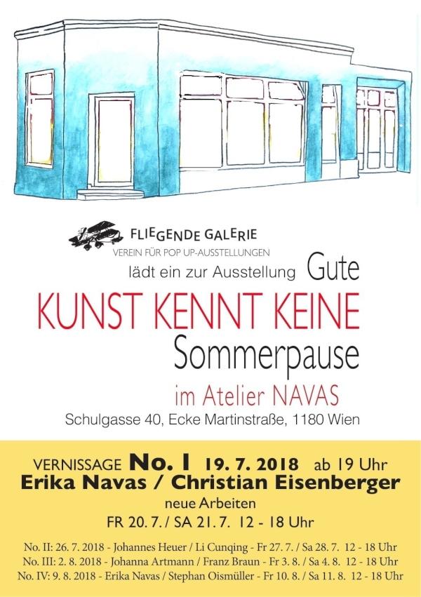 Flyer Ausstellung Juli und August 2018 Vernissage