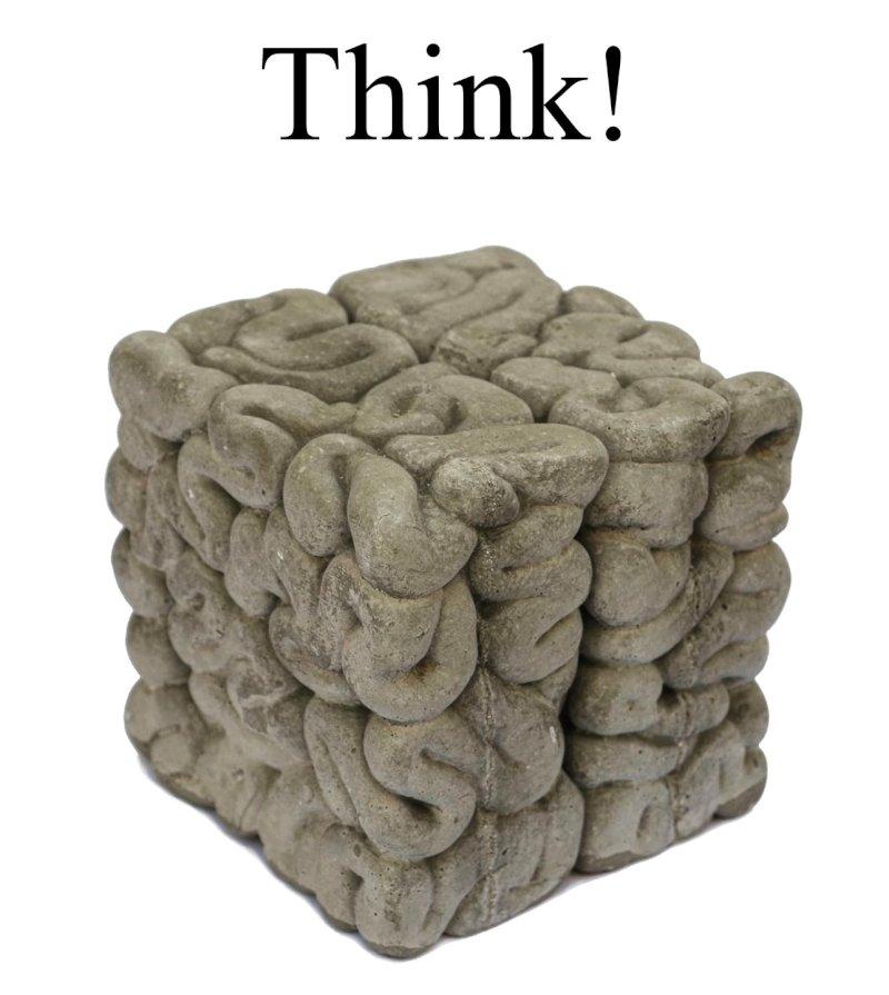 Think! - Kunst der Gegenwart - Skulptur von Stephan Ois