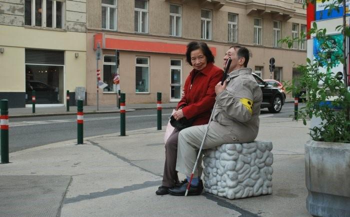 Stephan Ois - Skulptur Big Think im öffentlichem Raum Wien Währing